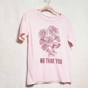 Blush Pink*No Thank You Graphic Tee*NWT*Fifth Sun